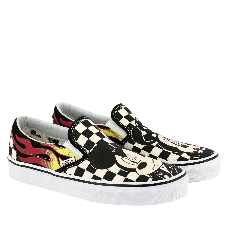 5c810f70265f Vans - Multicolor Disney X Mickey   Minnie Classic Slip-on Womens Shoes -  Lyst