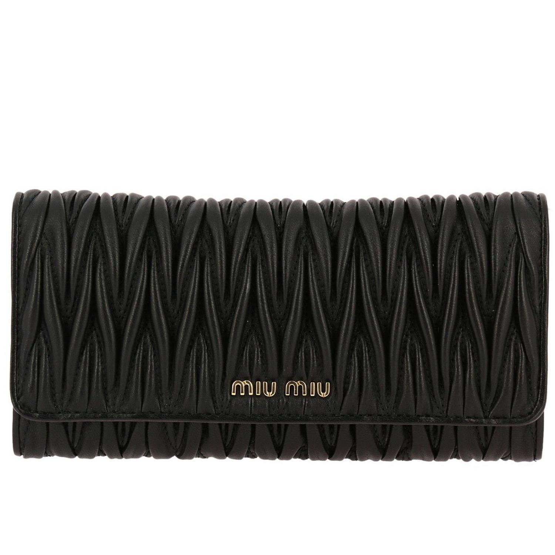 991eef3b3ae4 Miu Miu Wallet Women in Black - Lyst