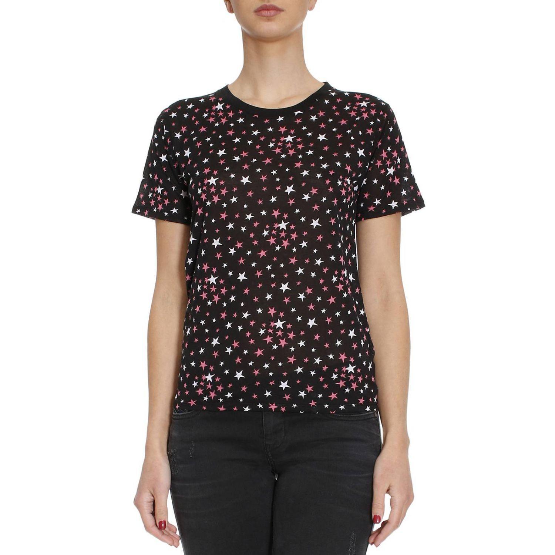 Lyst saint laurent t shirt women in pink for Saint laurent shirt womens