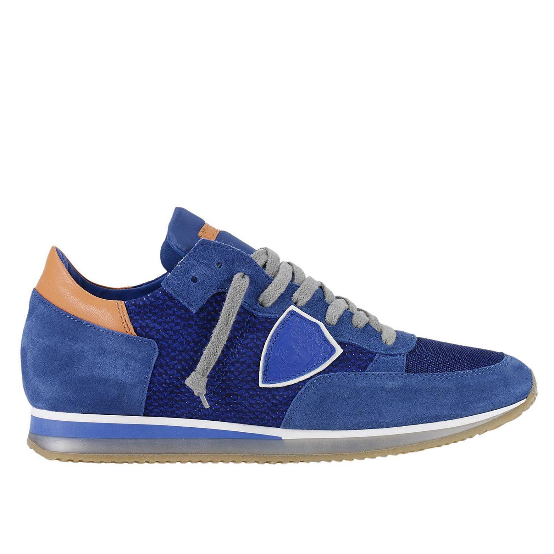 lyst philippe model sneakers shoes men in blue for men. Black Bedroom Furniture Sets. Home Design Ideas