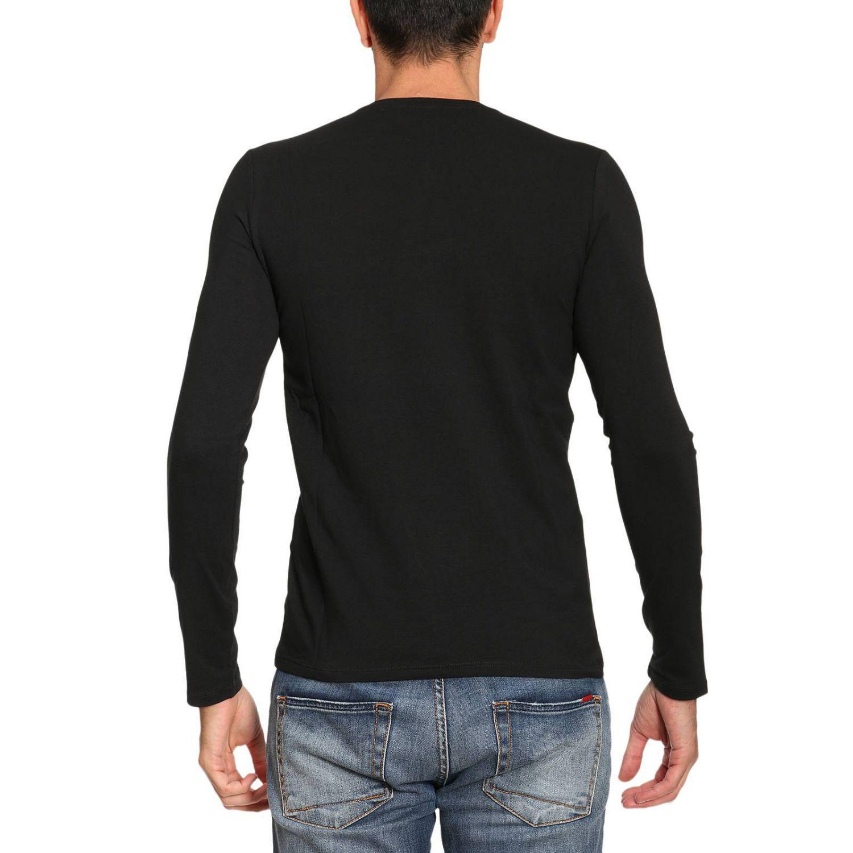 lyst armani jeans t shirt men in black for men. Black Bedroom Furniture Sets. Home Design Ideas