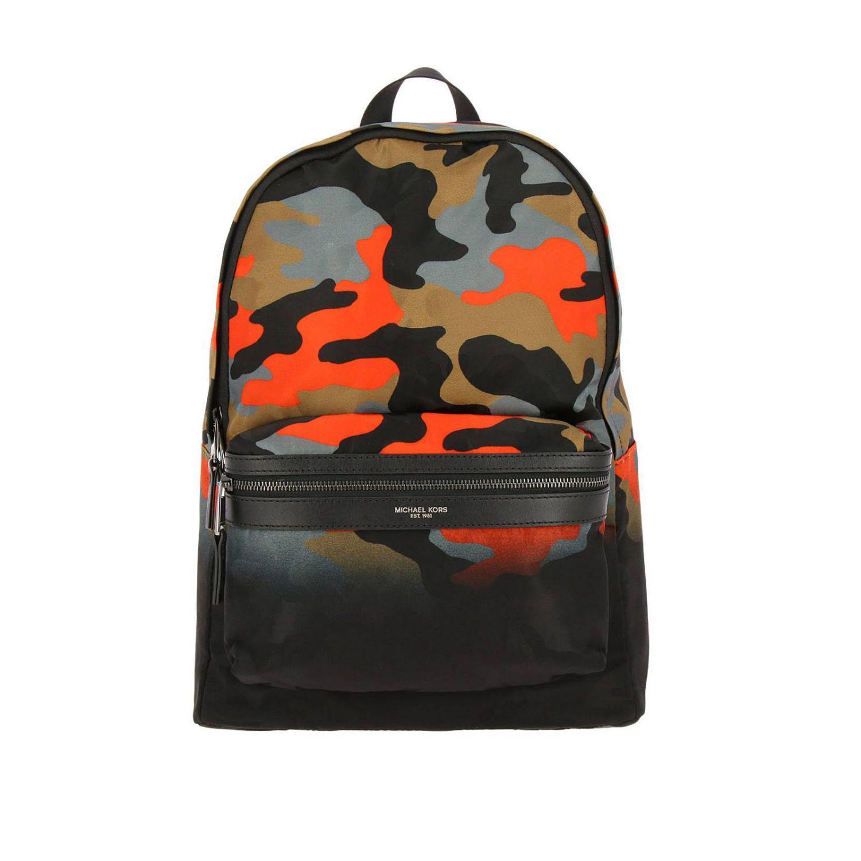 033b136e890e ... new arrivals michael kors backpack men in orange for men lyst 7d7d4  9efda