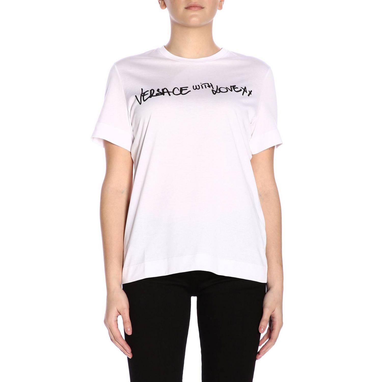 ee0b294b Lyst - Versace T-shirt Women in White