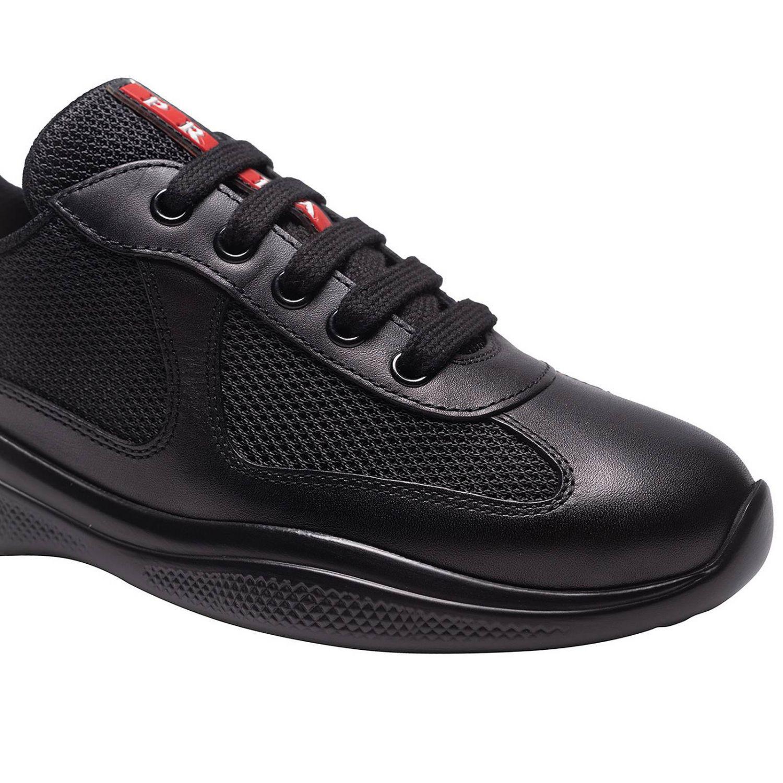 f8c1c28e87d6ef Prada - Black Baskets Chaussures Femme - Lyst. Afficher en plein écran