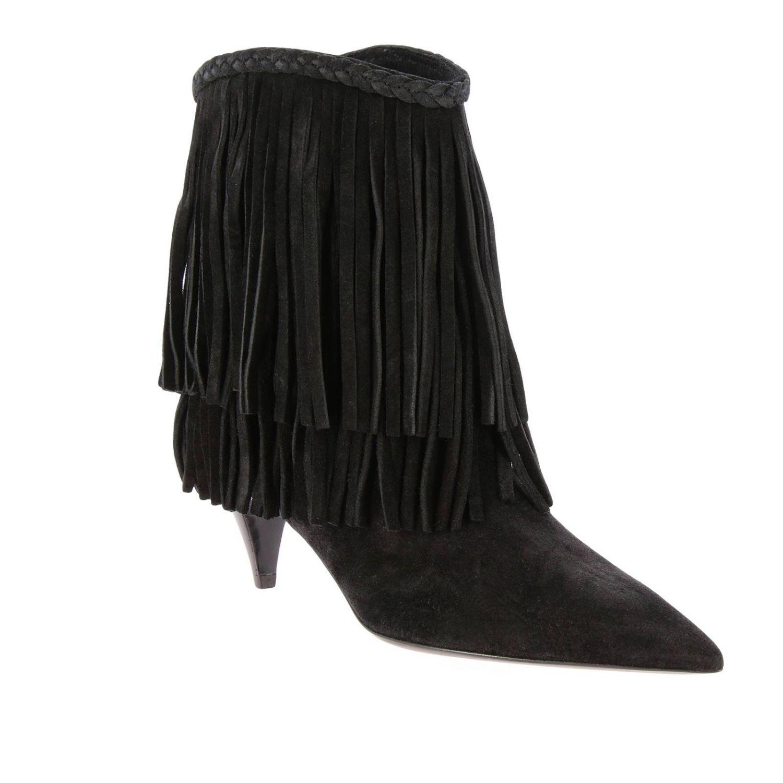 2f2c3219ce9 Saint Laurent - Black Heeled Booties Women - Lyst. View fullscreen
