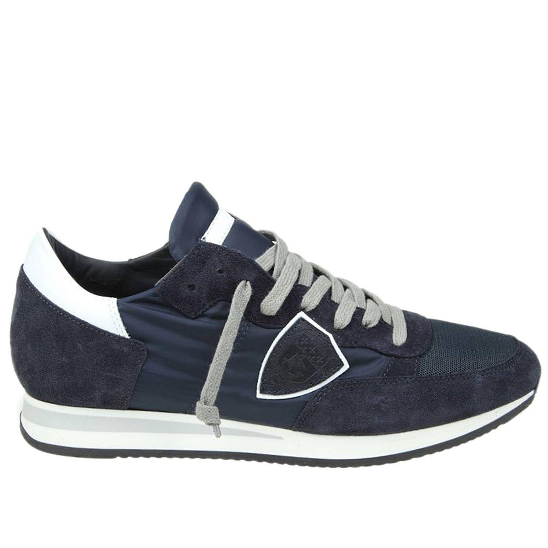 lyst philippe model sneakers men in blue for men. Black Bedroom Furniture Sets. Home Design Ideas