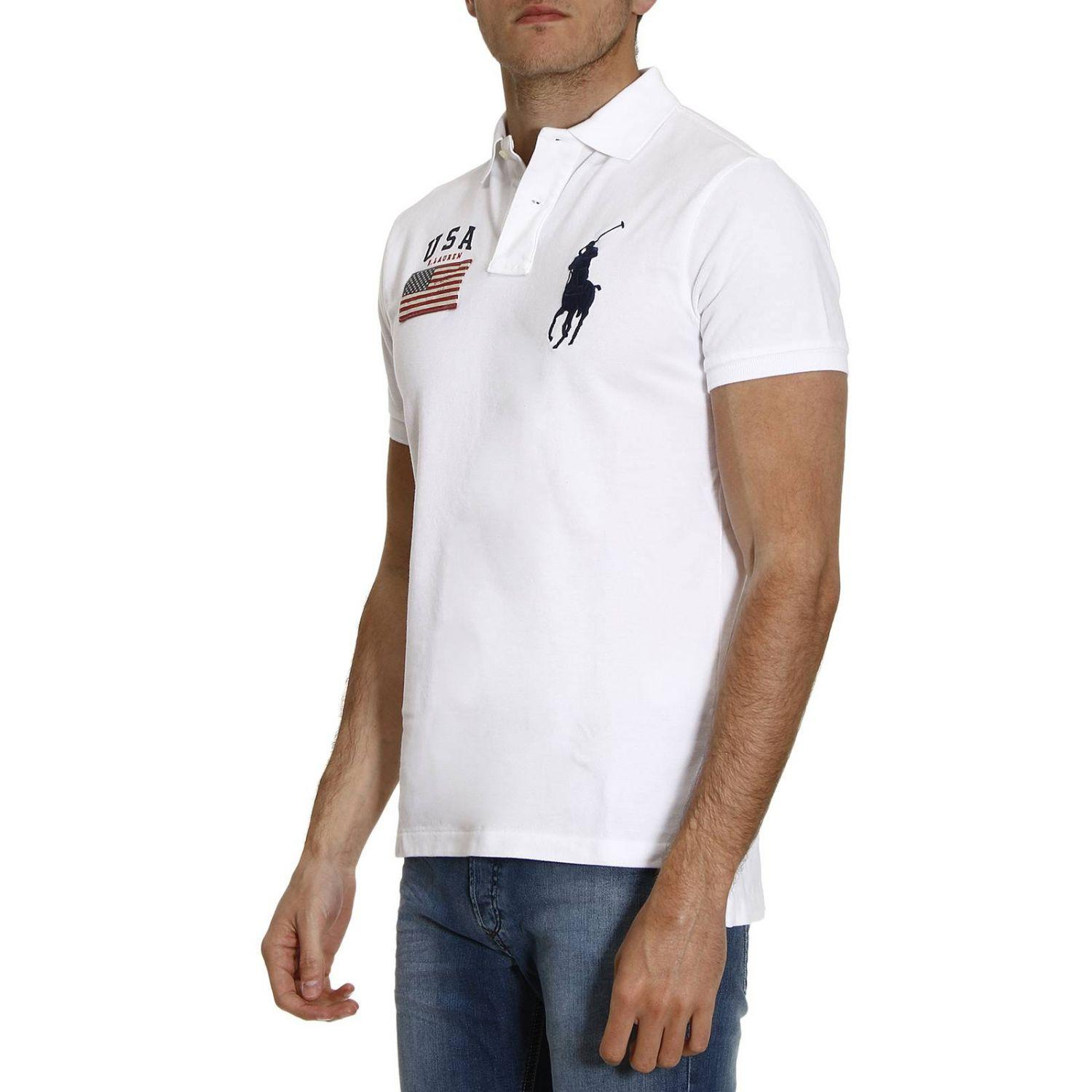 lyst polo ralph lauren t shirt men in white for men. Black Bedroom Furniture Sets. Home Design Ideas