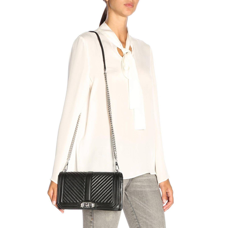 1060b608aebfc Rebecca Minkoff - Black Love Slim Crossbody Bag - Lyst. View fullscreen