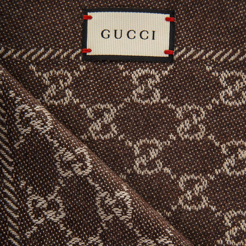 e0abf4c26 Bufanda Mujer Gucci de color Marrón - Lyst