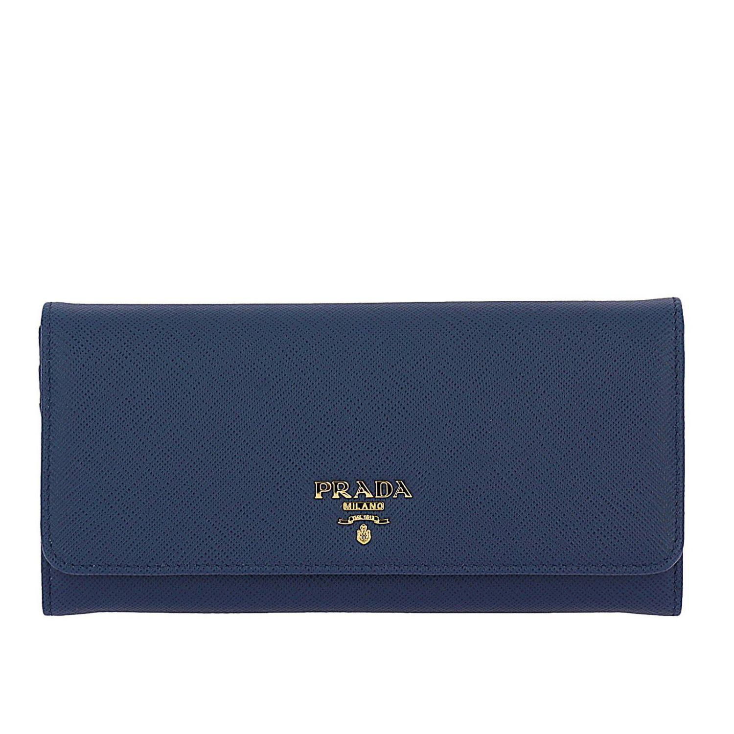 de99b72f5932 Prada Wallet Women in Blue - Lyst
