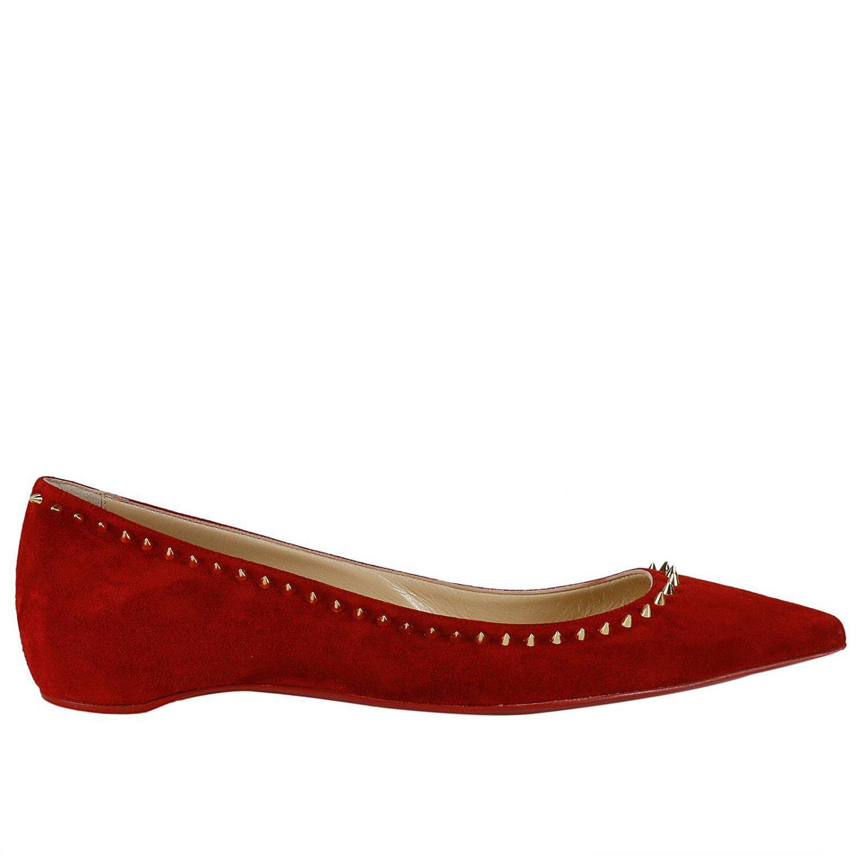 41d259346146 Christian Louboutin Ballet Flats Shoes Women in Red - Lyst