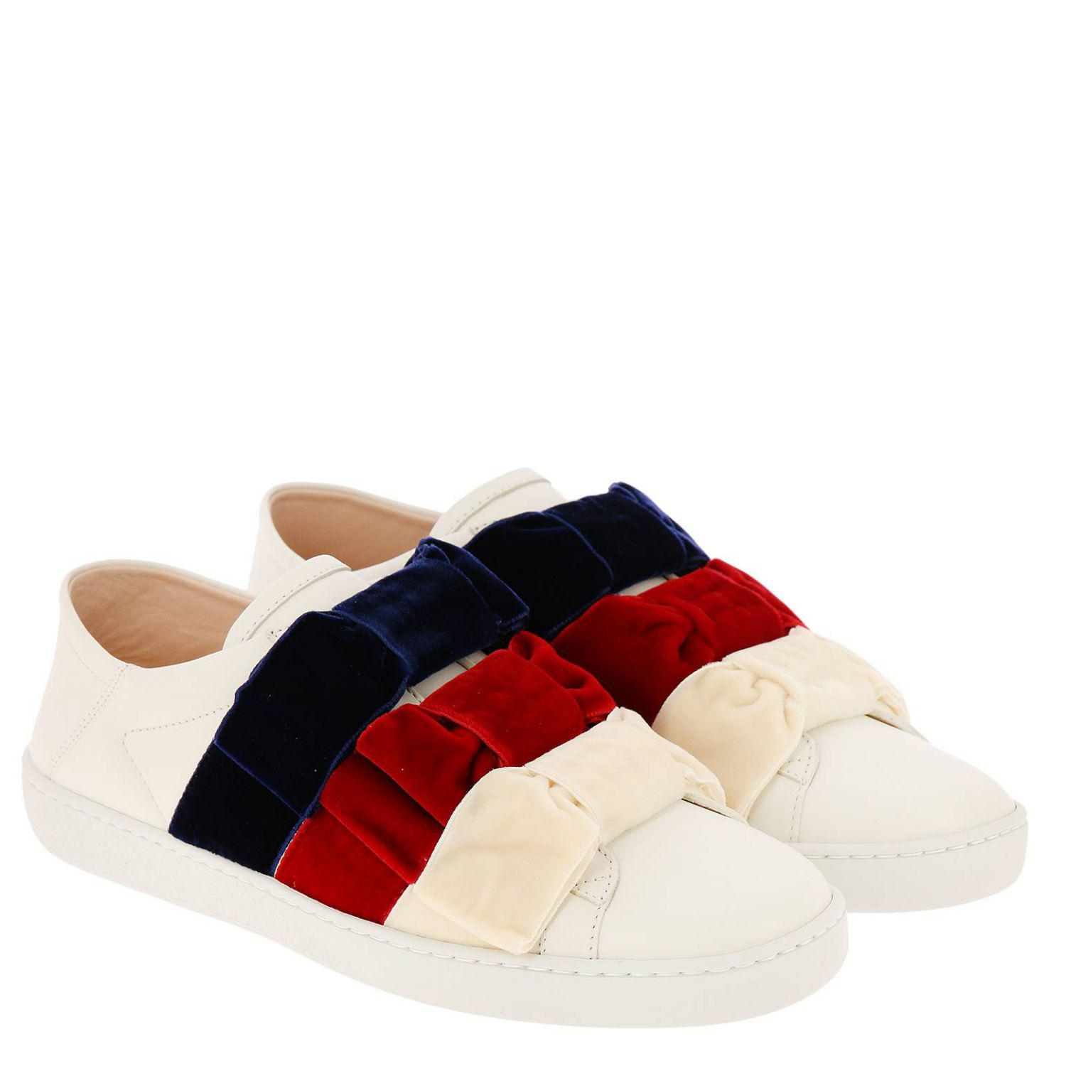 8a1c846db Gucci New Ace Slip-on Sneakers In Genuine Soft Leather With Maxi ...