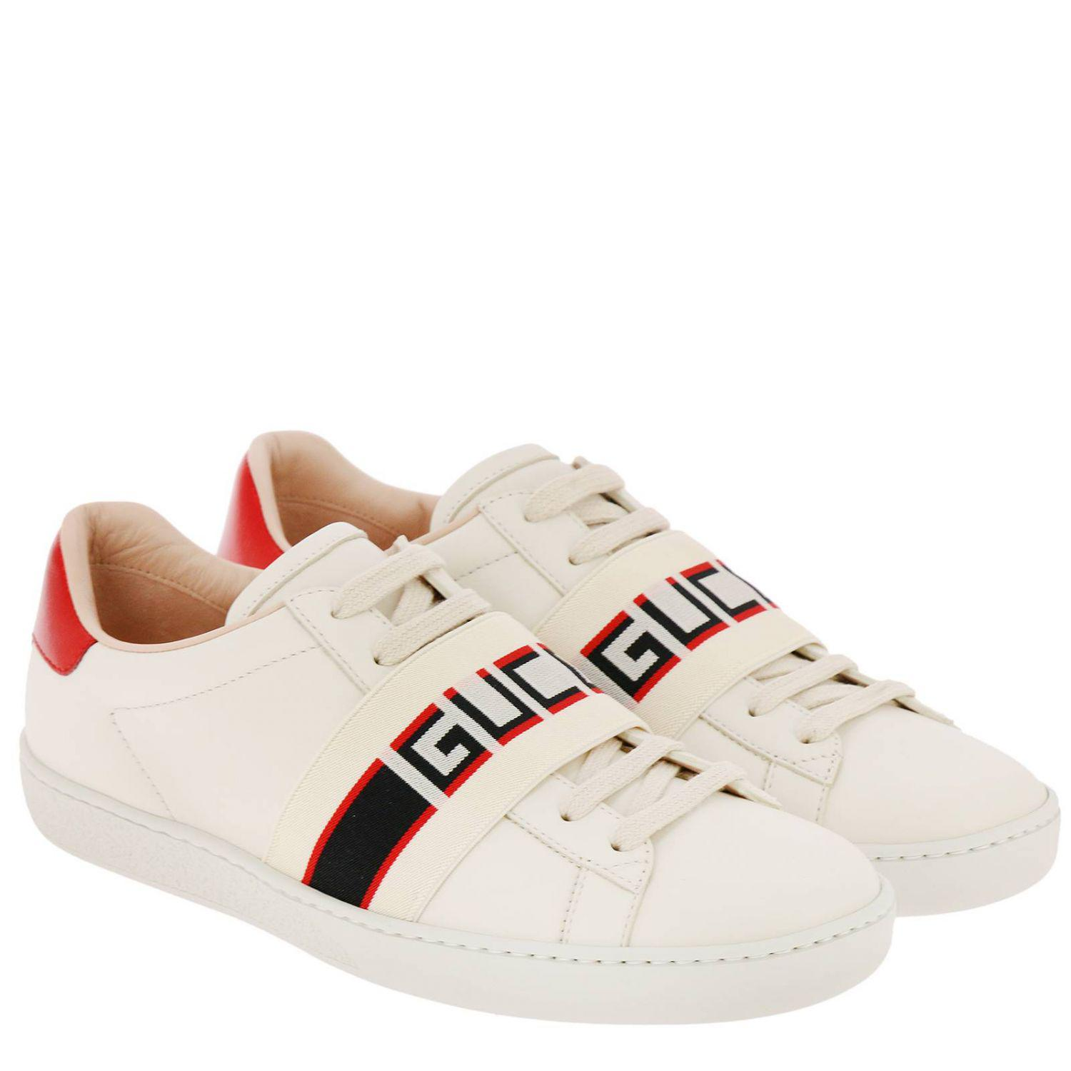 f9b09c64ba2 Lyst - Gucci New Ace Sneakers In Soft Leather With Elastic Band in White