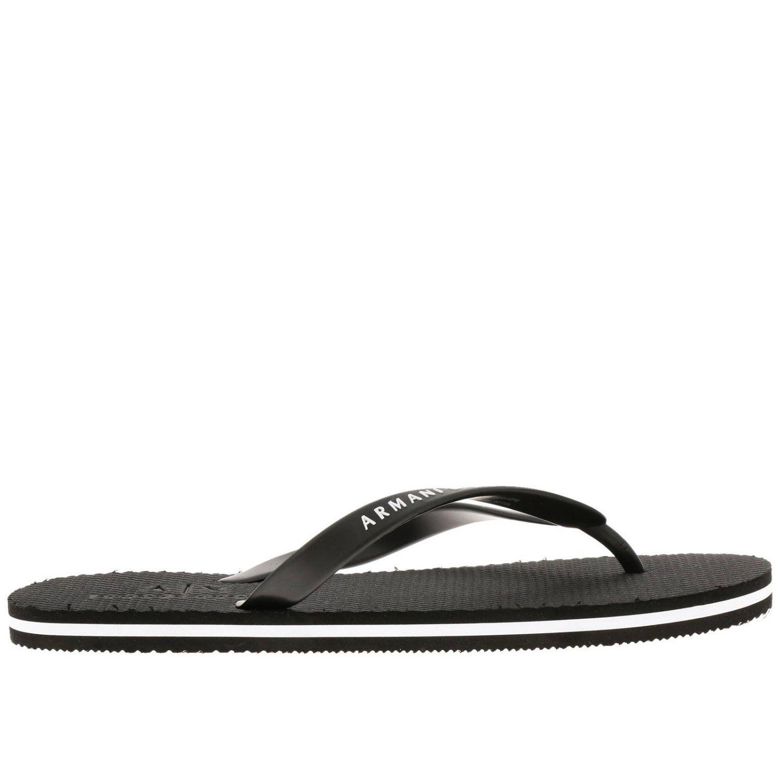 8b6c08ad1 Armani Exchange Sandals Shoes Men in Black for Men - Lyst