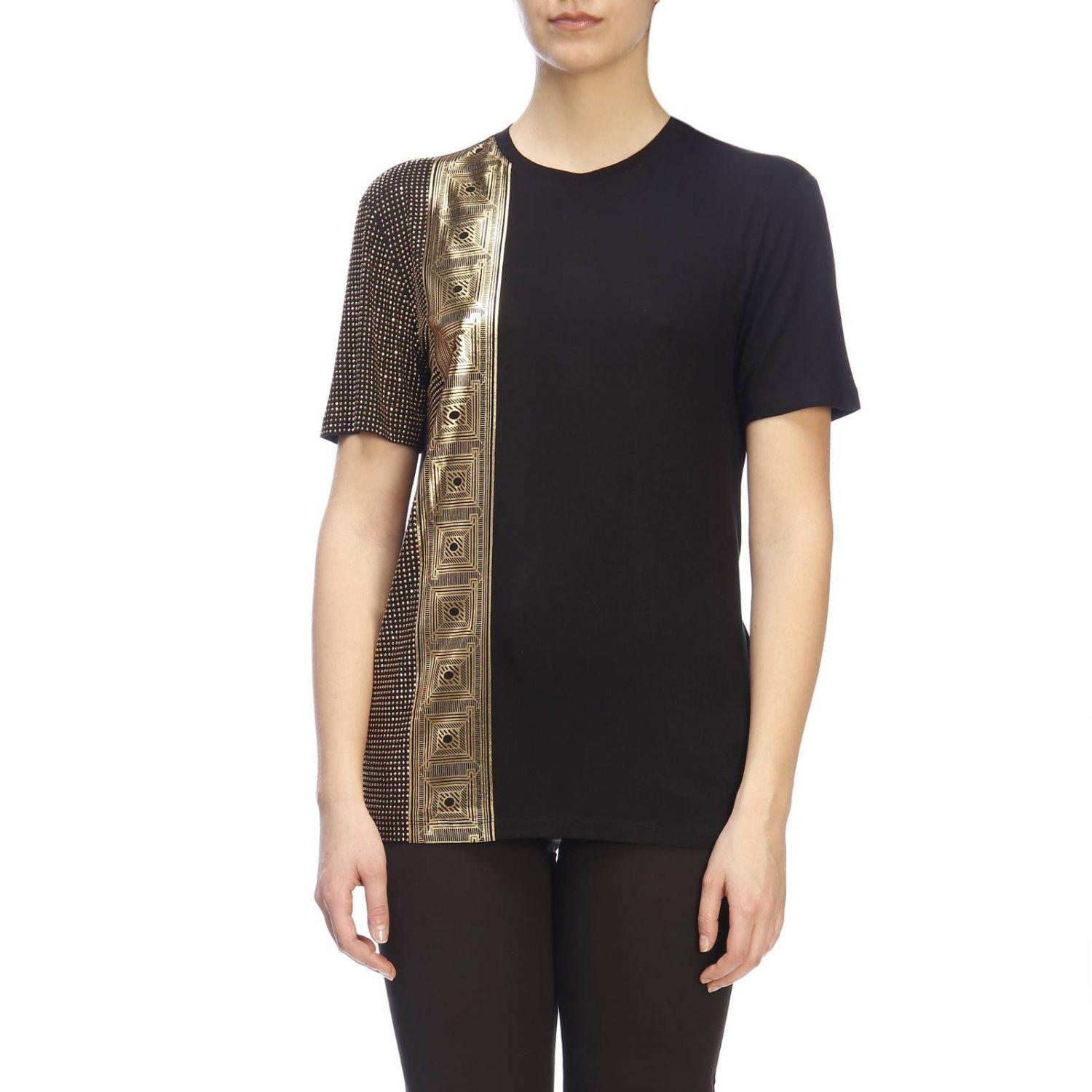 b321020ad587 Lyst - Versace T-shirt Women in Black