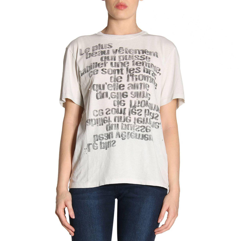Lyst saint laurent t shirt women in white for Saint laurent t shirt