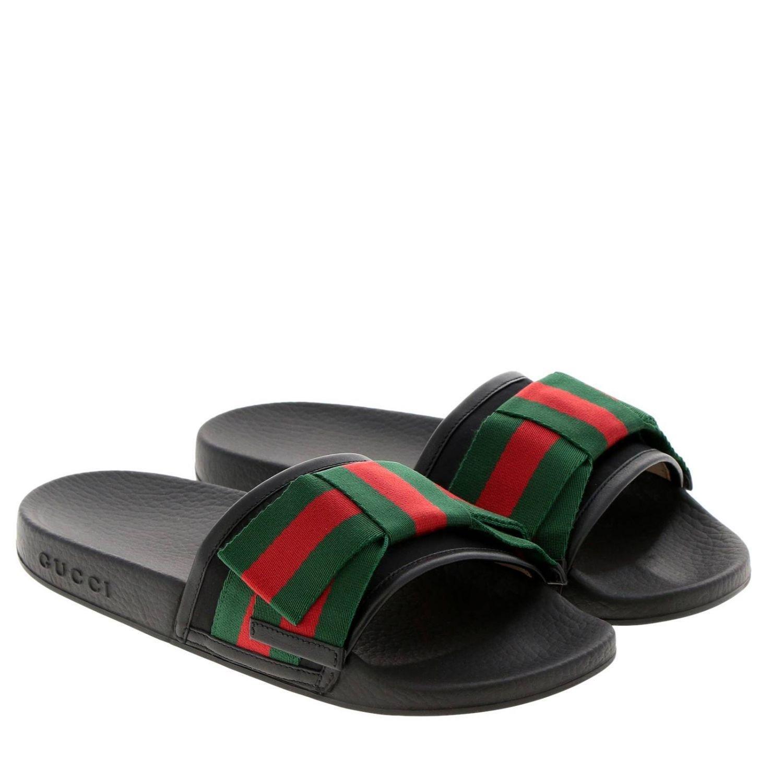 4ed9860f701c Gucci - Black Flat Sandals Shoes Women - Lyst. View fullscreen