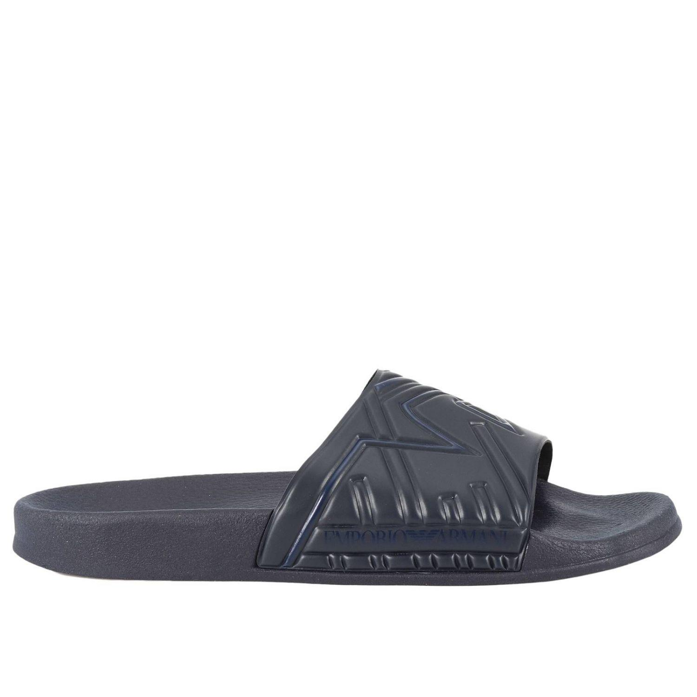 armani velour 11 slippers -Navy -Talla 11 velour Hombre 7242f3