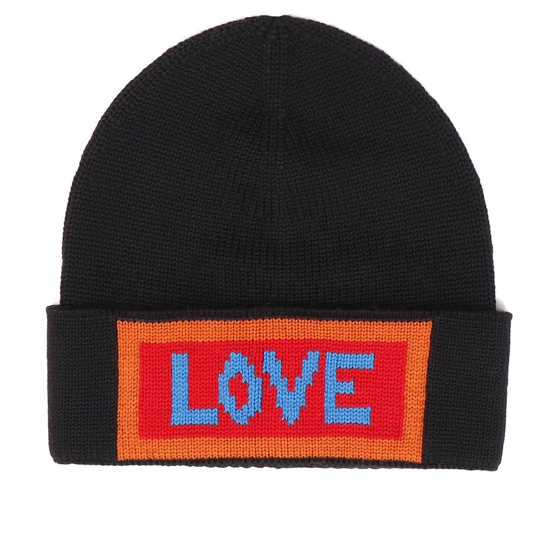 jacquard logo knit beanie - Blue Fendi WraBB1tFw