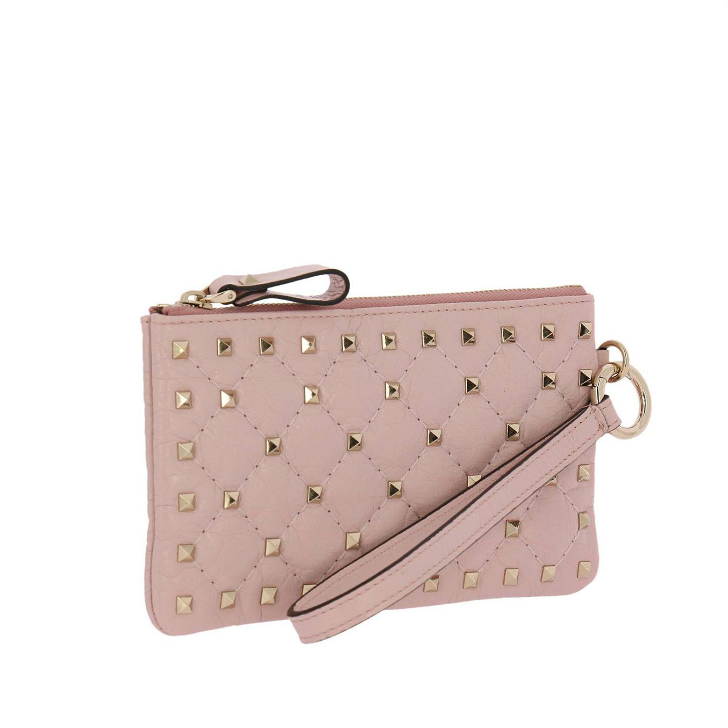 d060524a9 ... Valentino Rockstud Spike Mini Clutch Bag In Quilted Nappa Leather With  Metal Studs. View fullscreen