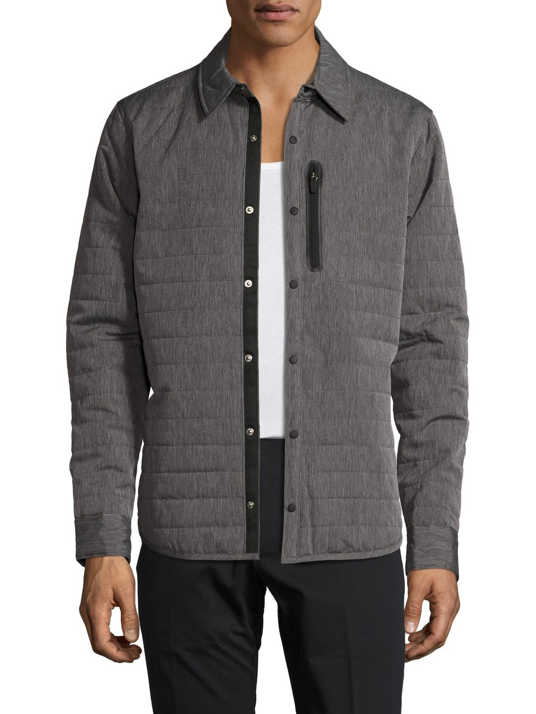Original penguin Quilted Space Dye Jacket in Gray for Men | Lyst : penguin quilted jacket - Adamdwight.com