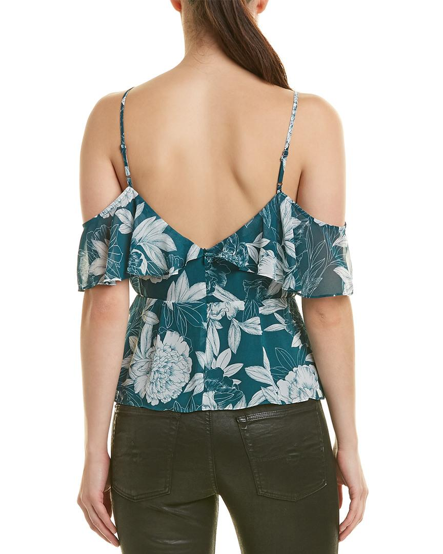 e48578dbc796c Lyst - Bardot Garden Party Top in Green - Save 17%