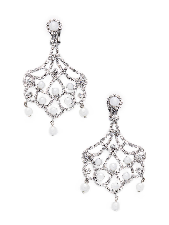 Kenneth Jay Lane Double Triangle Crystal Clip Earrings Gunmetal/crystal RRukbxisqZ