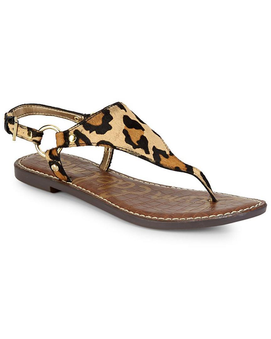 6150138349a8a Lyst - Sam Edelman Greta Leopard Thong Sandal in Brown