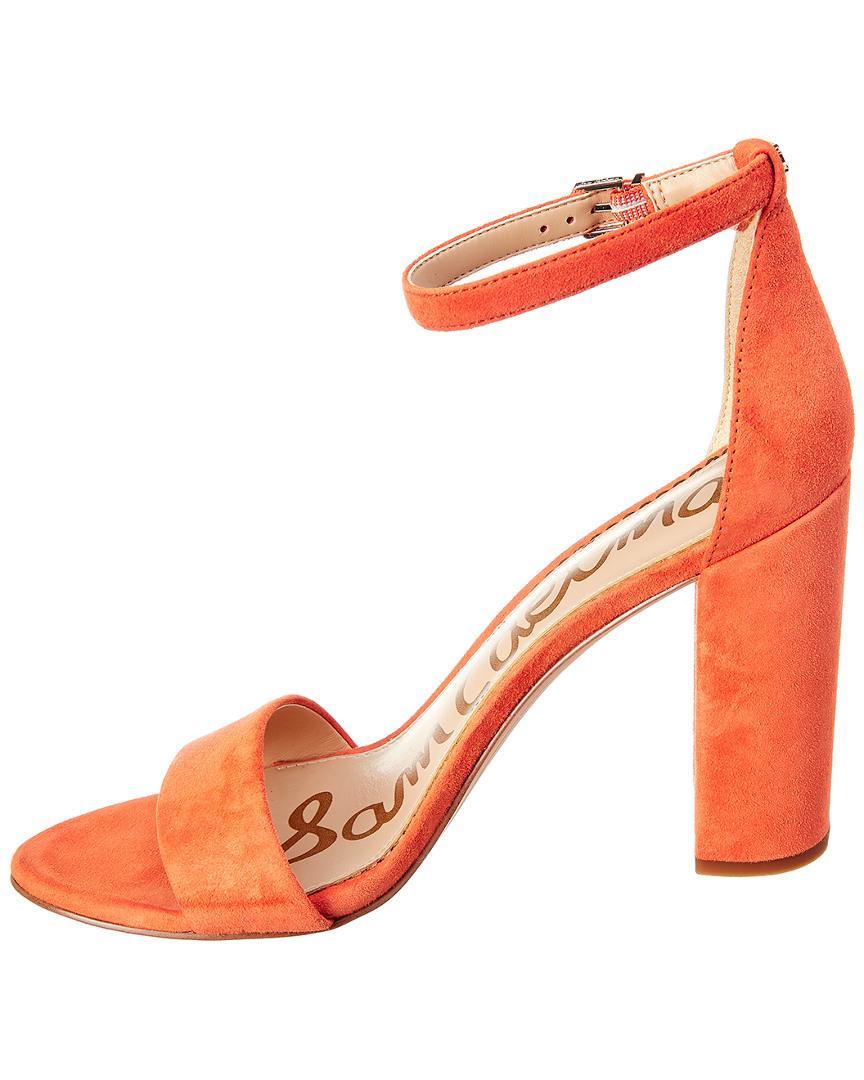 08c80563b834b5 Lyst - Sam Edelman Yaro Suede Sandal in Orange