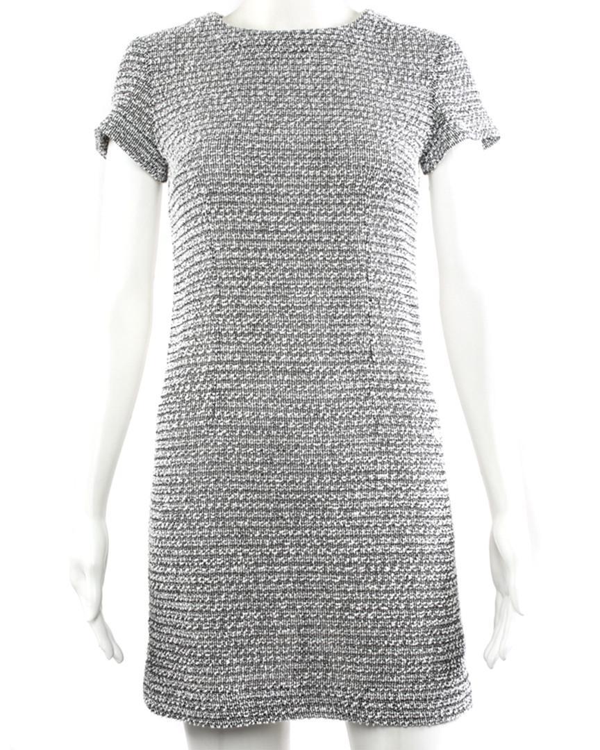 e6fa6ccf704 Lyst - Chanel Grey Cotton Shift Dress, Size Fr 34 in Gray