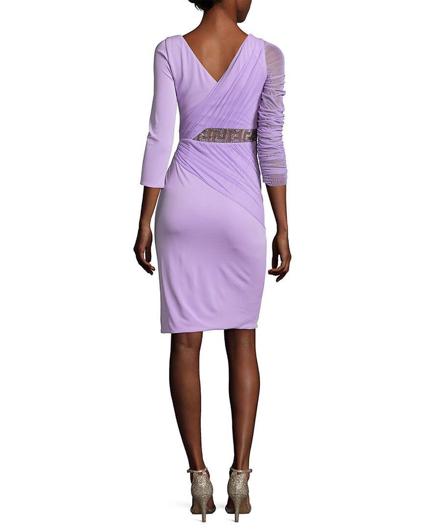 b4d02e9d7d87 Lyst - Versace Abito Donna V-neck Dress in Purple