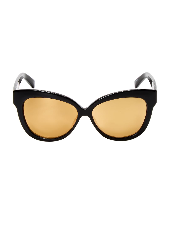 aac2c3ad8309 Lyst - Linda Farrow 60.5mm Cat-eye Sunglasses in Black