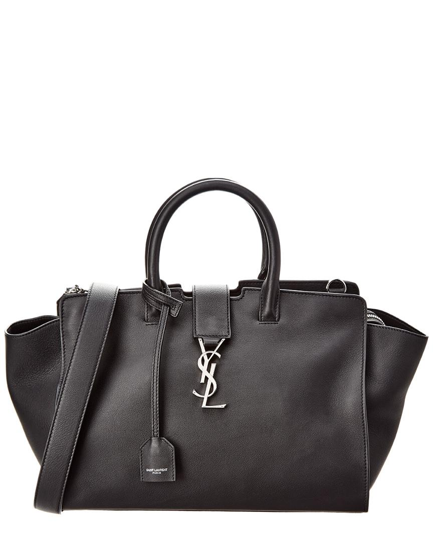bc14aff347ea Lyst - Saint Laurent Baby Downtown Cabas Leather Tote in Black - Save 6%