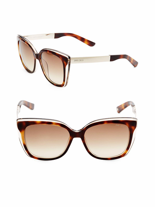 d739fba22be Jimmy Choo 55mm Octavia Two-tone Wayfarer Sunglasses in Brown - Lyst