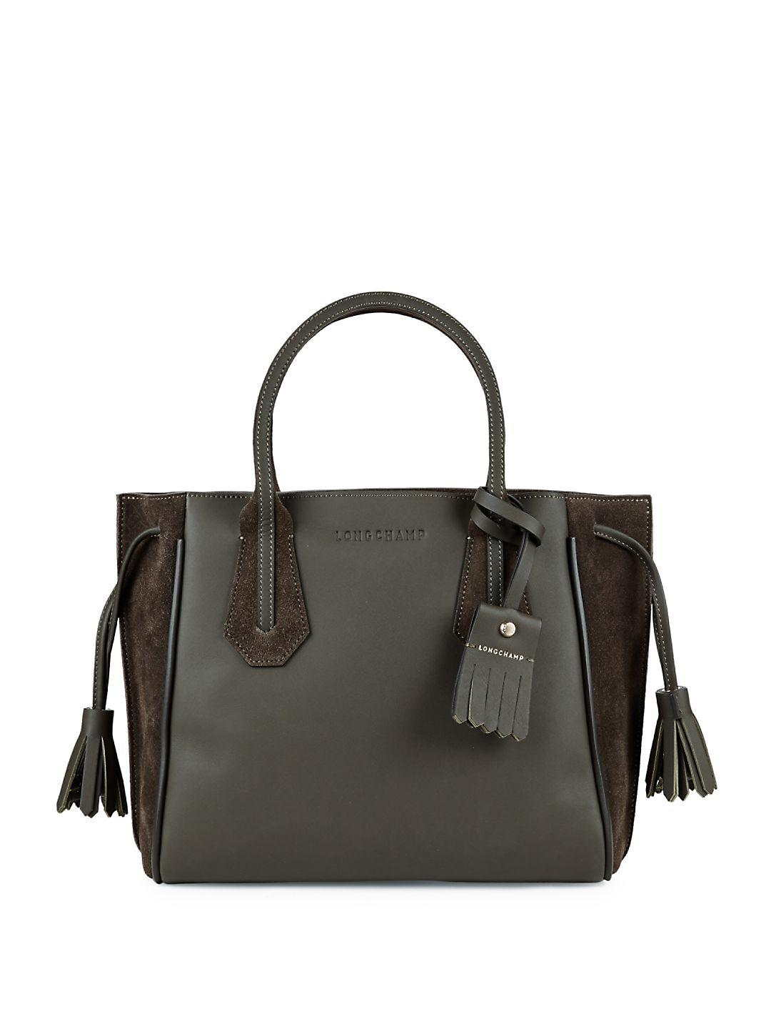In Longchamp Leather Small Penelope Tote Green Lyst q11wWvgZx