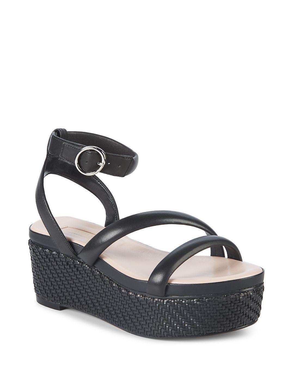1ccd8d355be5 Lyst - Avec Les Filles Ava Leather Platform Sandals in Black