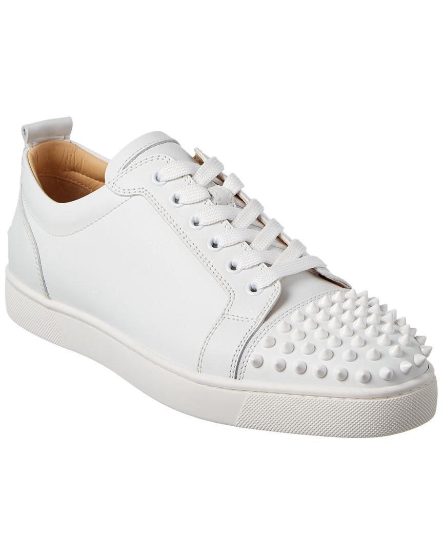 d929239461e Lyst - Christian Louboutin Louis Junior Spikes Leather Sneaker in ...