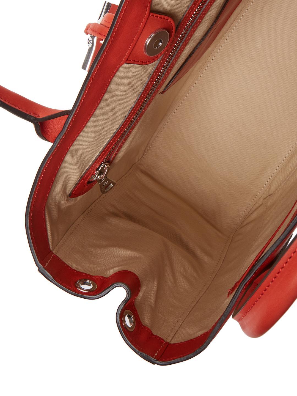 cebe1e442b6 Longchamp Roseau Heritage Leather Medium Tote in Red - Lyst