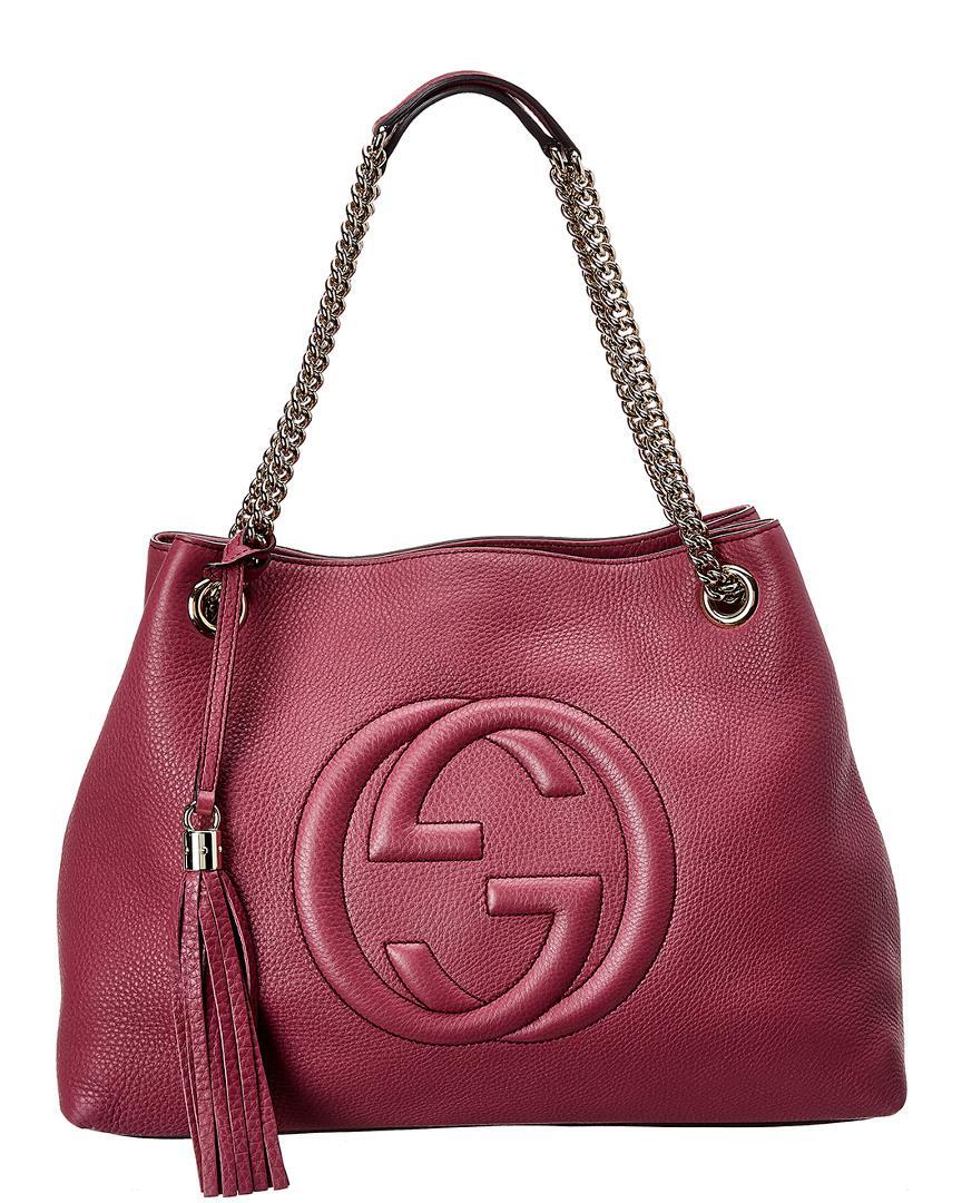 635677dc3315f Gucci. Women s Purple Leather Soho Chain Shoulder Bag