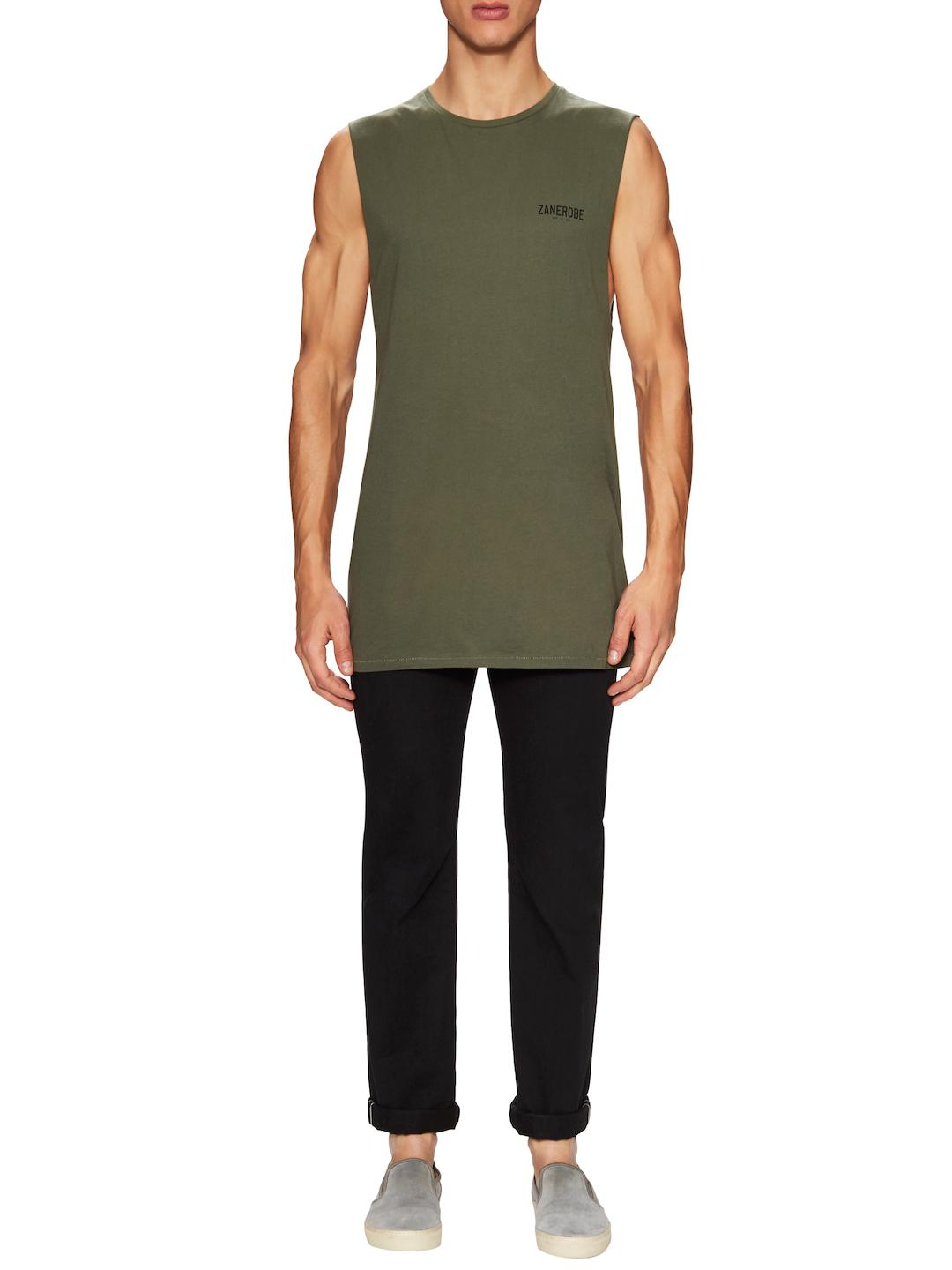 55a57720d578d Lyst - Zanerobe Cotton Tall Muscle Tank Top in Green for Men