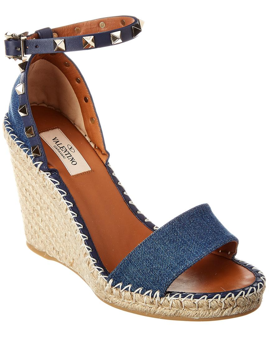 2000ad1a24cf Lyst - Valentino 105mm Rockstud Double in Blue - Save 20%