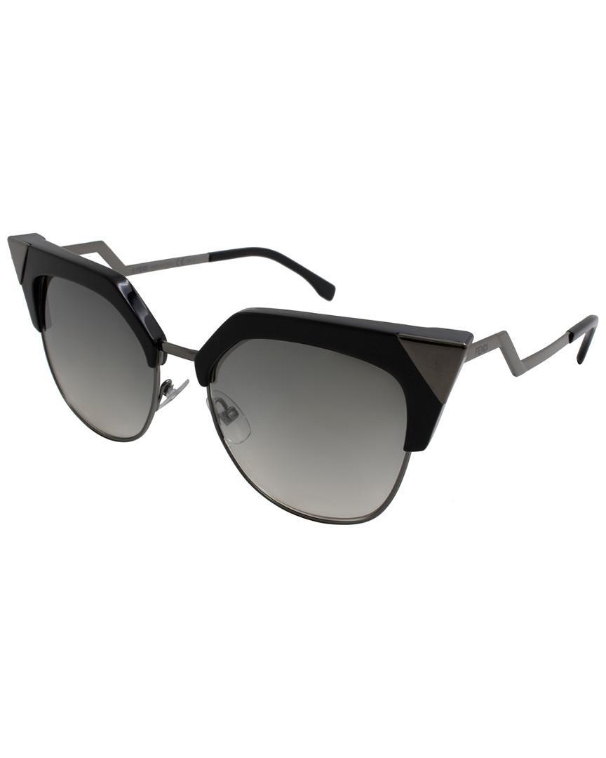 72e09f8c987 Lyst - Fendi Women s Ff0149s 54mm Sunglasses in Black - Save 4%