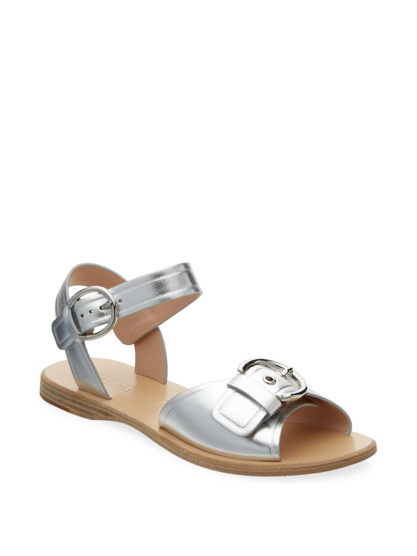 Marc Jacobs Horizon Flat Leather Sandal dVAXA