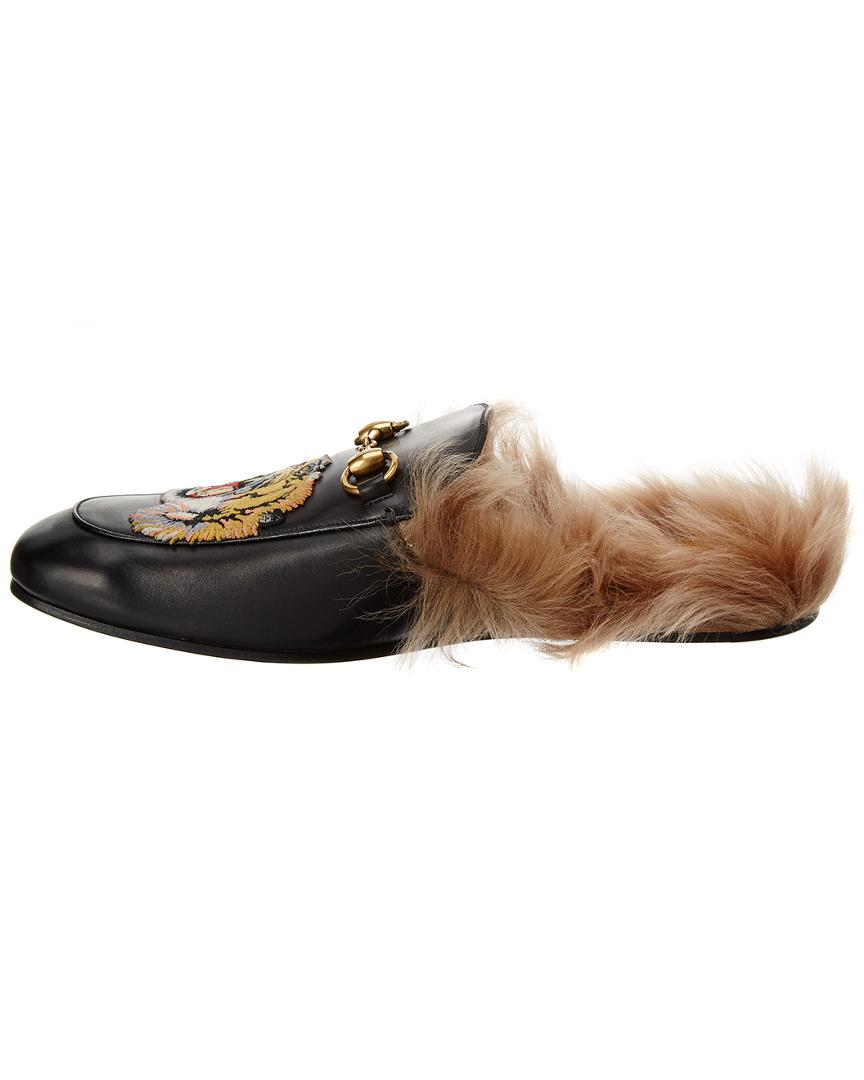 3432a87808d Gucci Princetown Tiger Appliqueleather Slipper in Brown for Men - Save 32%  - Lyst