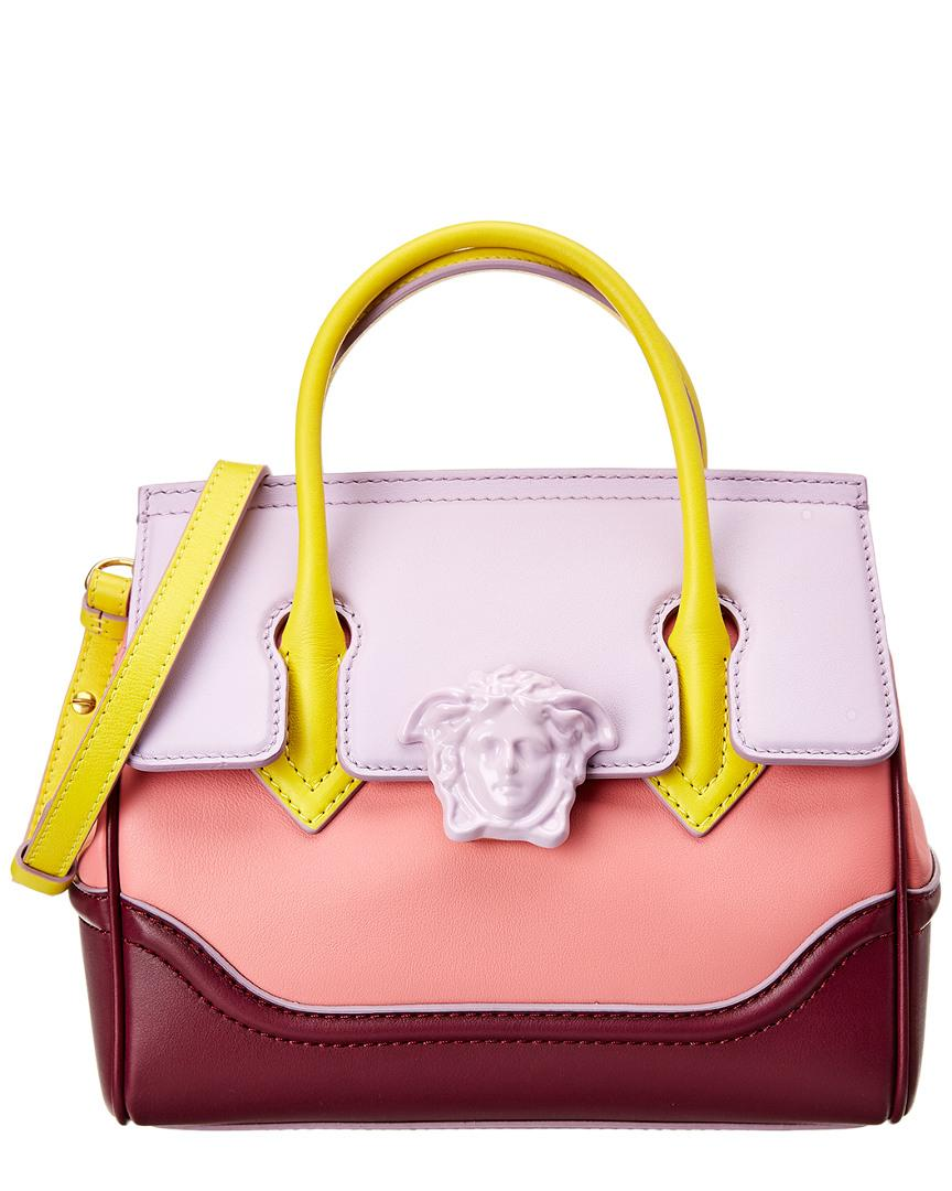 4bd06122e1a6 Lyst - Versace Palazzo Empire Medium Leather Satchel in Pink