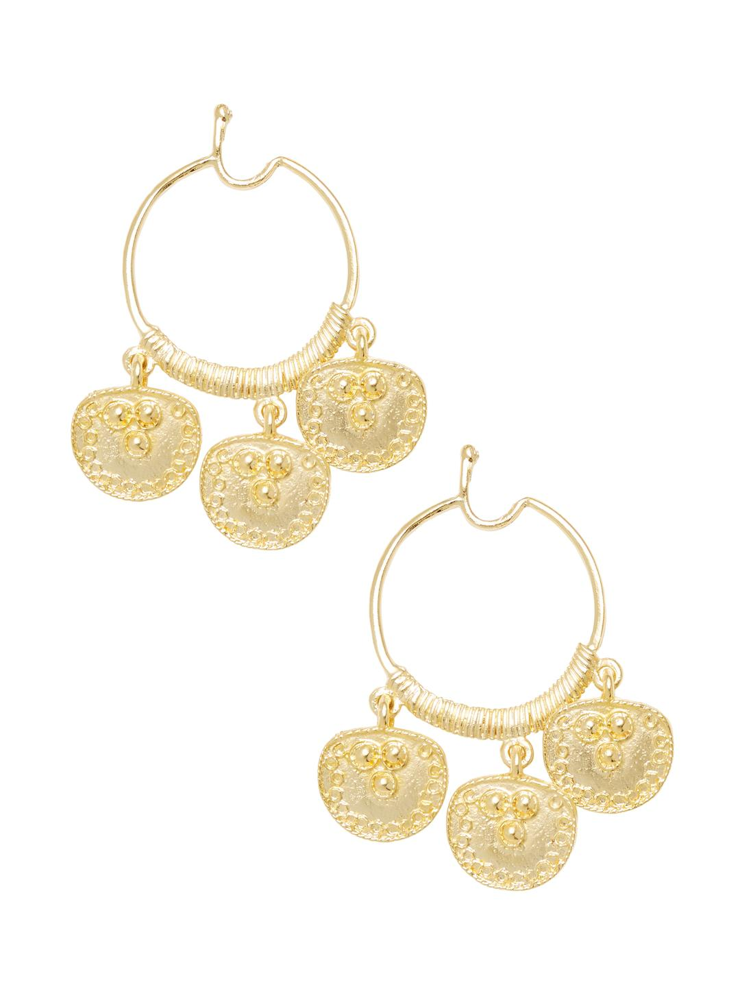 Kenneth Jay Lane Kenneth Jay Lane Woman Embossed Silver And Gold-tone Clip Earrings Silver Size JKZC2f