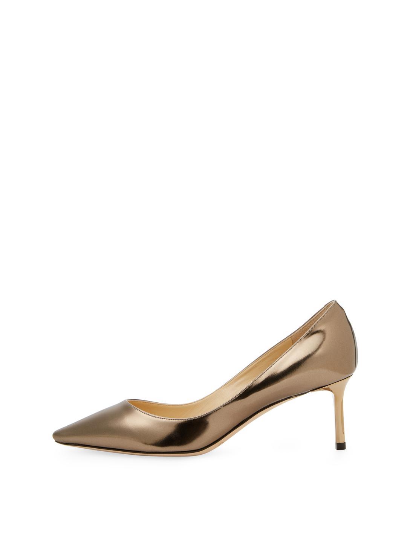54e51d00b61f ... switzerland lyst jimmy choo romy mid heel pump in metallic a8f4c 1211c
