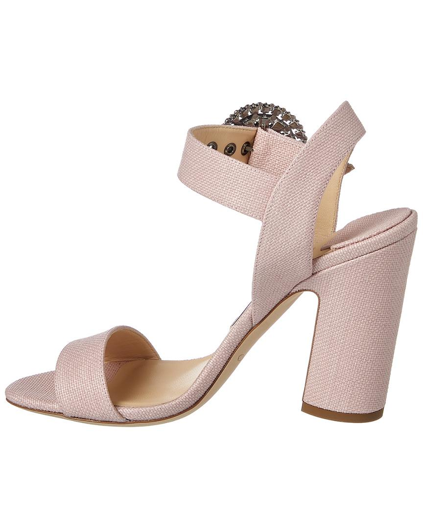 81f923230212a3 Lyst - Jimmy Choo Mischa 100 Canvas Sandal in Pink - Save 38%