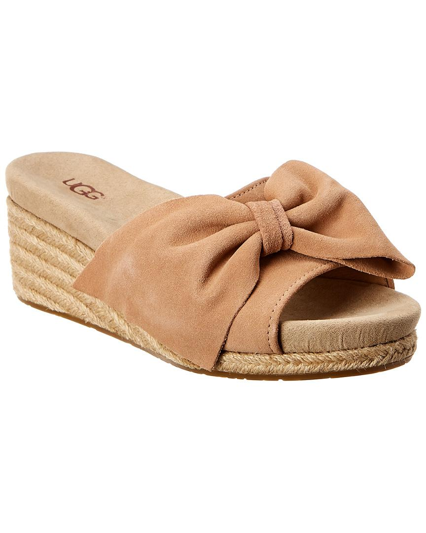 50f98a20e3a UGG Jancee Suede Wedge Sandal in Brown - Lyst