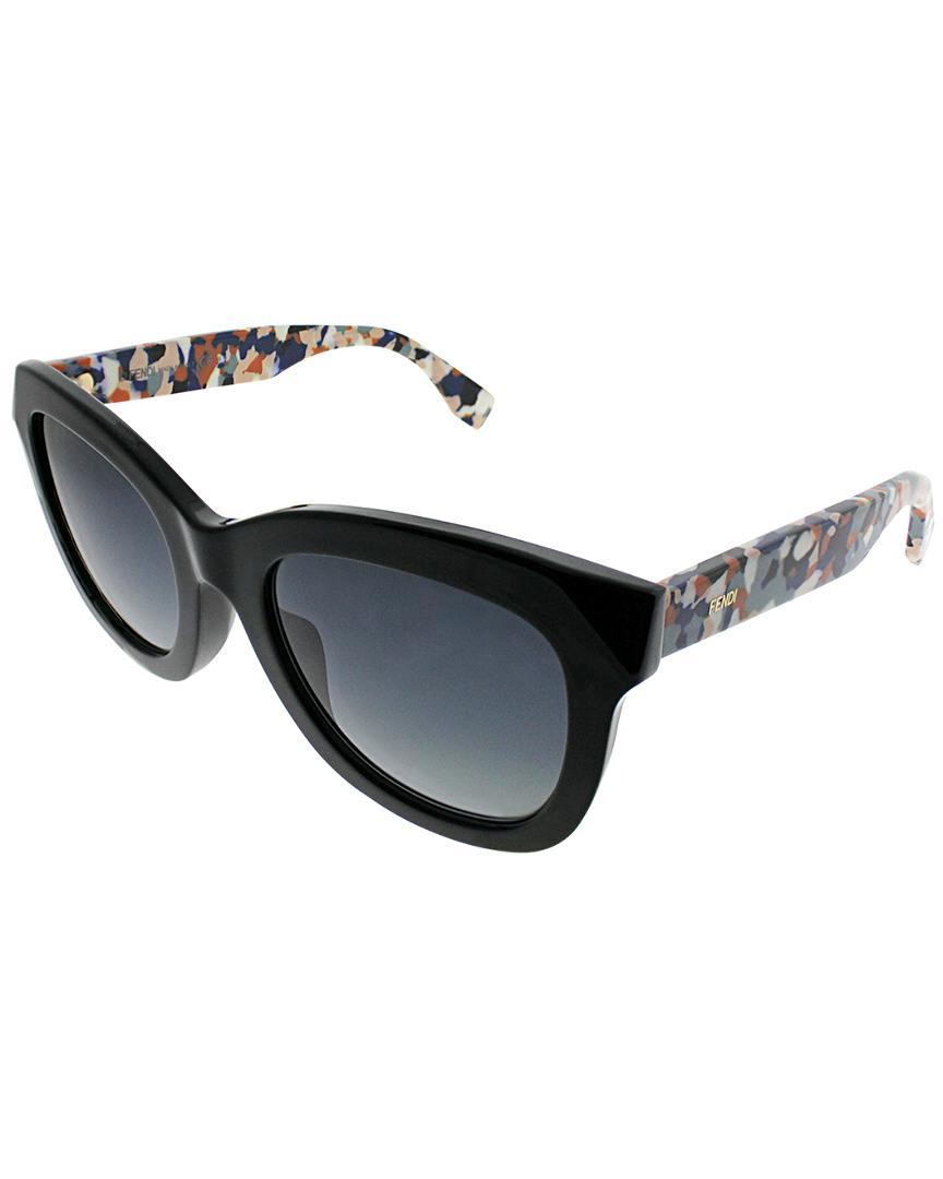 89fcd24d2242 Lyst - Fendi Cat-eye 48mm Sunglasses in Black
